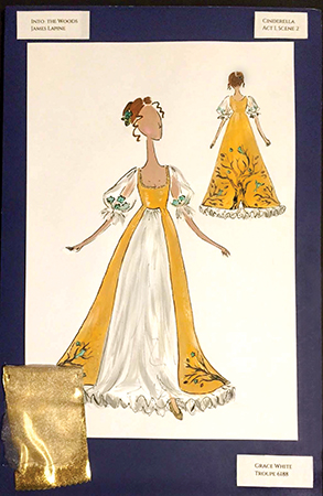 Grace White's costume rendering for Cinderella in Into the Woods.