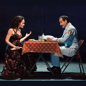 Katrina Lenk and Tony Shalhoub. Photo by Ahron R. Foster.