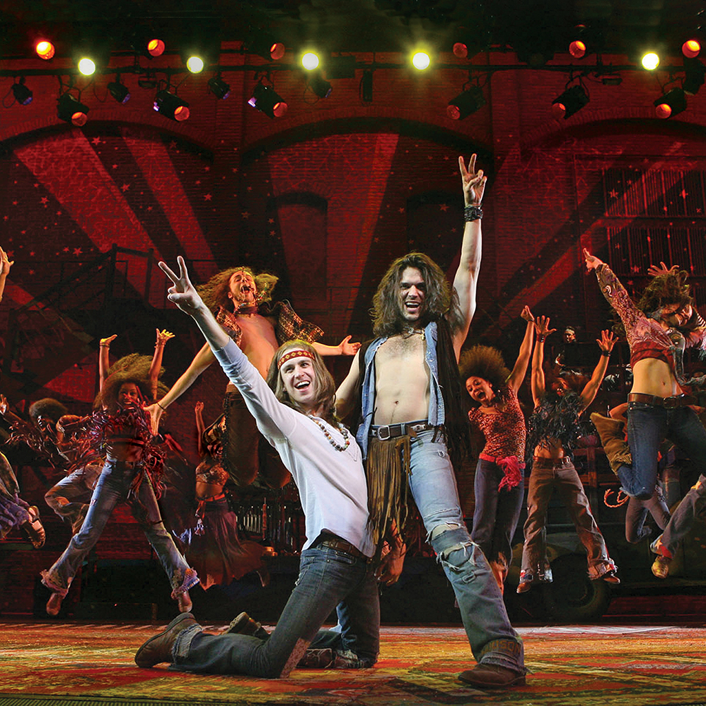 Gavin Creel and Will Swenson in Hair.