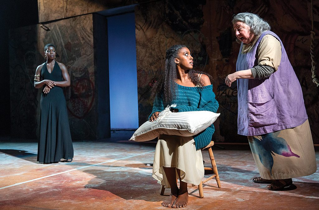 Roslyn Ruff, Condola Rashad, and Jayne Houdyshell in the 2013 Broadway revival of Romeo and Juliet.