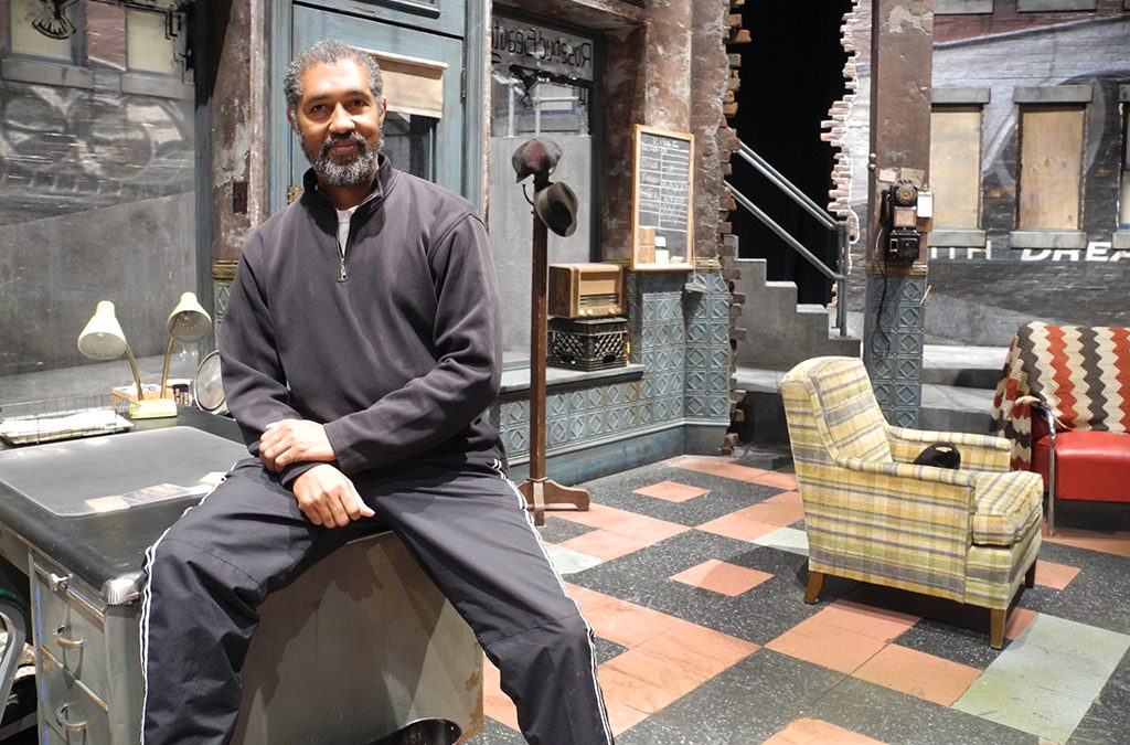 Dion Graham on the set of Jitney.