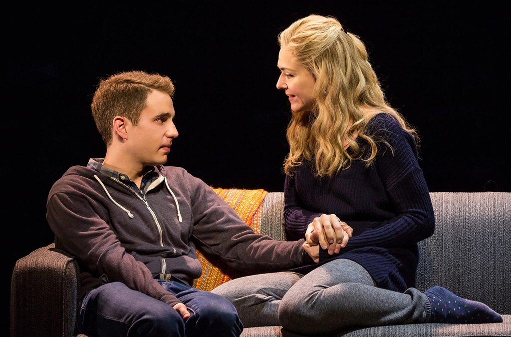 Ben Platt and Rachel Bay Jones in Dear Evan Hansen.