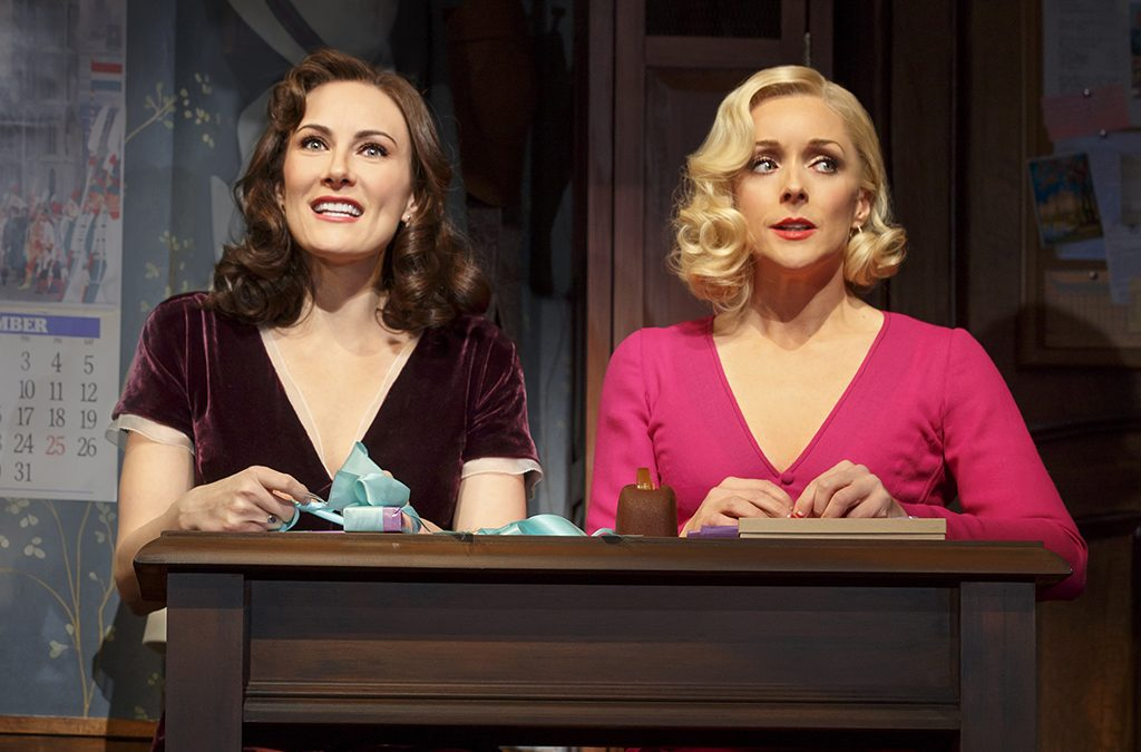 Laura Benanti and Jane Krakowski don wigs by David Brian Brown in the 2016 Broadway revival of She Loves Me.