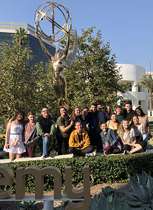 California Thespians gather outside the Academy of Television Arts & Sciences for the Thespians Go Hollywood event.