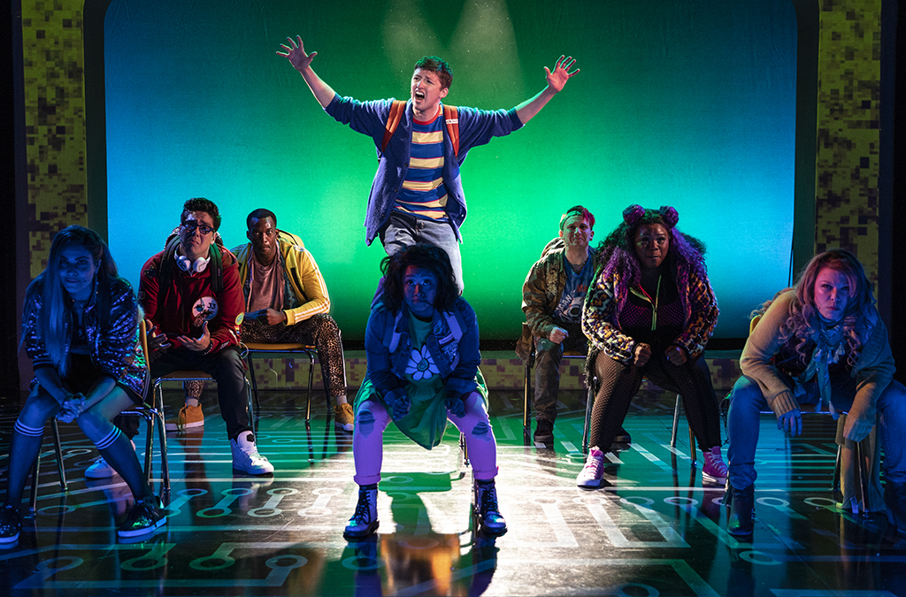 Pershing Square Signature Center's 2018 Off-Broadway production of Be More Chill.