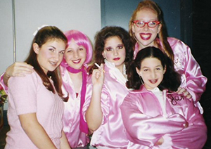 ennifer Ashley Tepper (far right) with castmates from Grease in theatre camp in 2001.