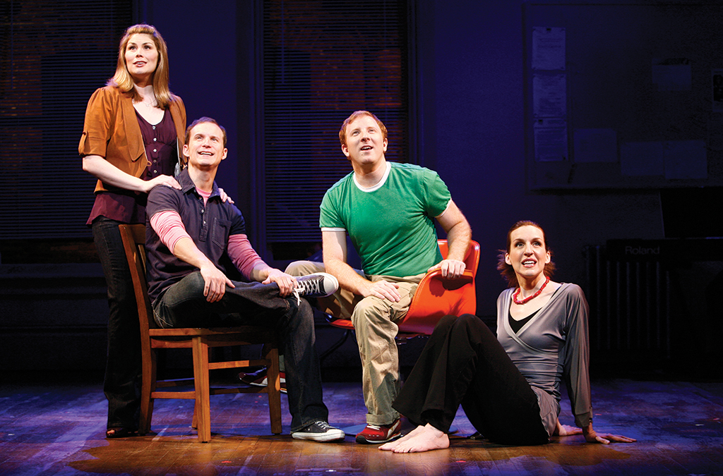 Heidi Blickenstaff, Jeff Bowen, Hunter Bell, and Susan Blackwell in the 2008 Broadway production of [title of show].