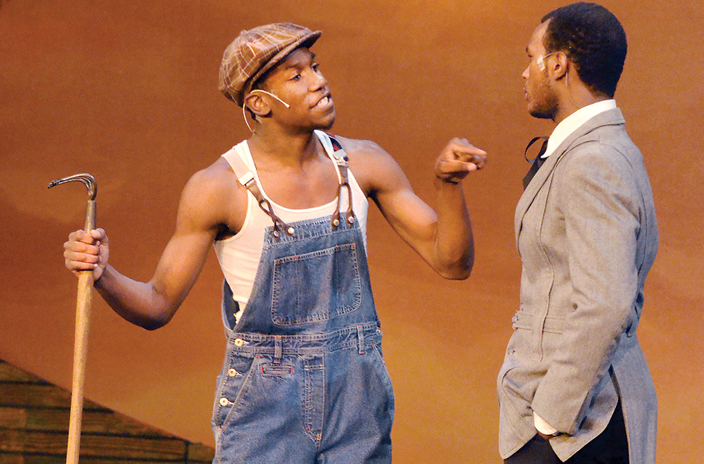 Phillip Johnson-Richardson and Mekhai Lee in the Northwest School of the Arts' 2012 production of The Color Purple.