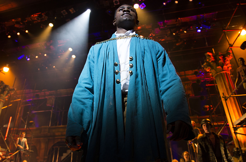 Phillip Johnson-Richardson as Judas in the University of Cincinnati College-Conservatory of Music production of Jesus Christ Superstar.