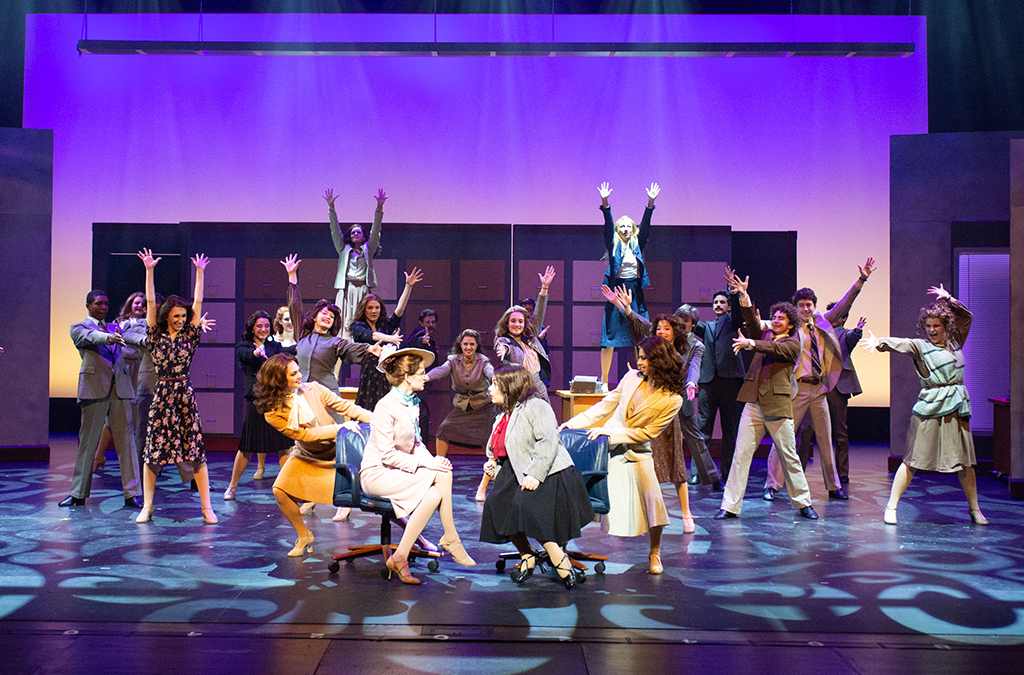 The company of Kinkaid School's production of 9 to 5.
