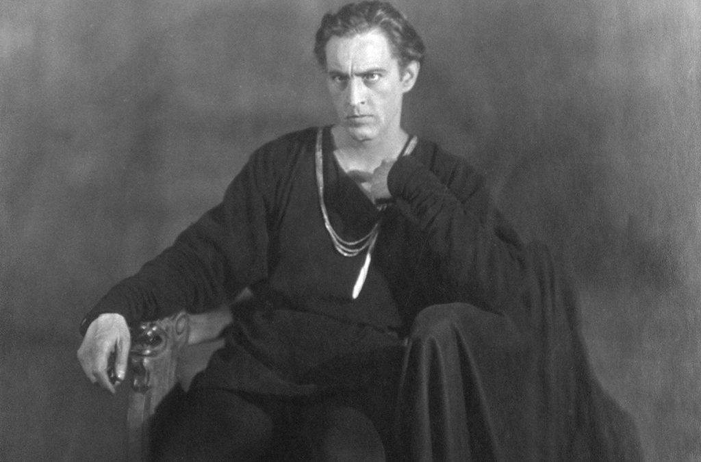 Hamlet (portrayed here by John Barrymore in 1922) has the most lines of any Shakespearean character.