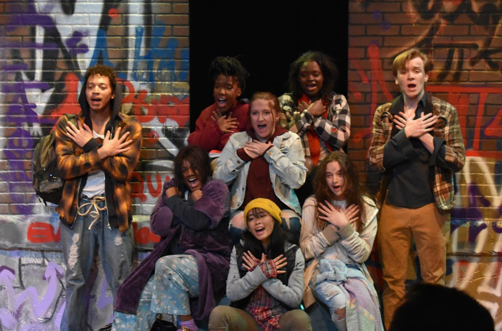 The cast of Merrillville High School's production of Drift.