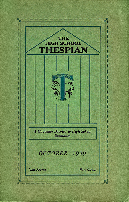 1929: The first issue of The High School Thespian, later Dramatics, is published.