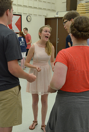 Thespians learn new improv skills during the 2015 International Thespian Festival.