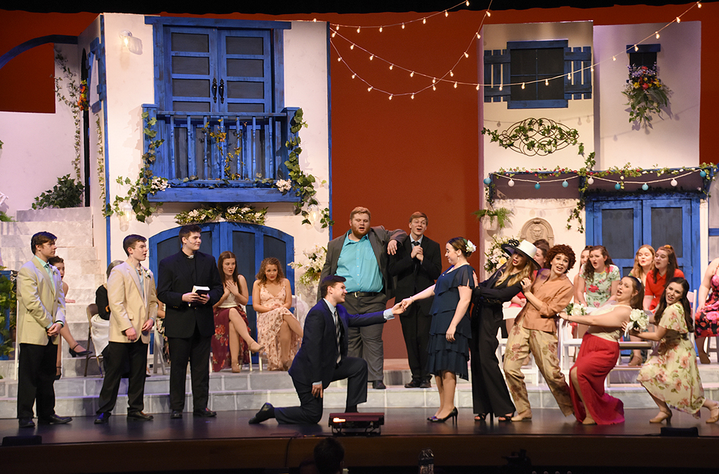 The cast of New Albany High School's production of Mamma Mia!