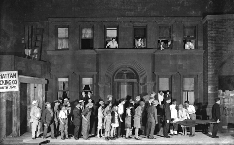 The original Broadway company of Street Scene.