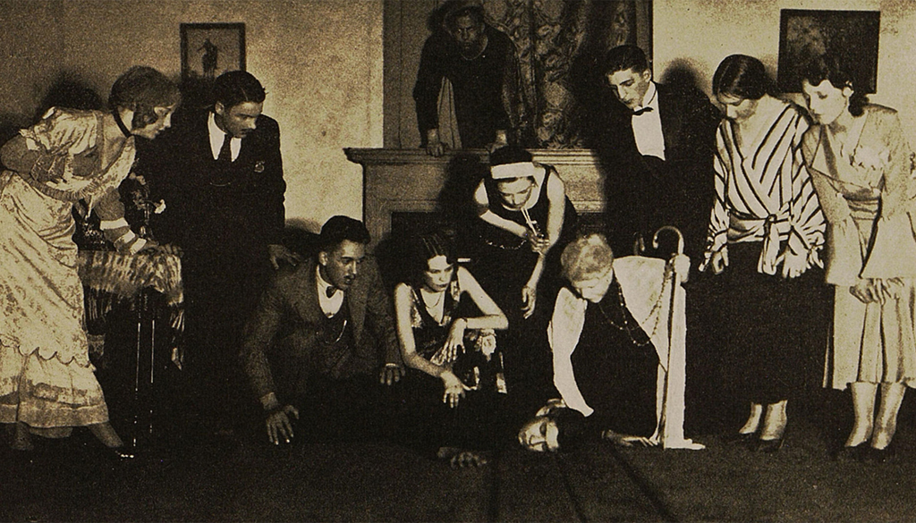 United Township High School's 1931 production of The House of a Thousand Thrills.
