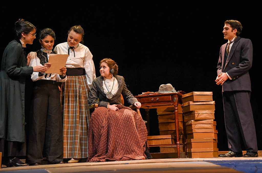 Their pioneering contributions to early 1900s astronomy distinguish the women of Mt. Carmel Academy's 2018 ITF performance of Silent Sky.