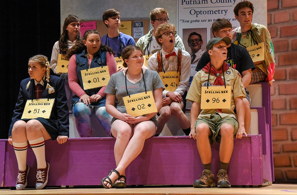 Very different childhoods shape the young contestants of Denver School of the Arts' 2018 ITF performance of The 25th Annual Putnam County Spelling Bee.