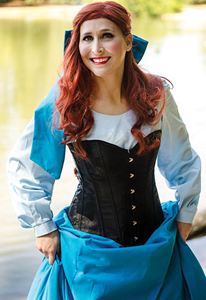 Middle school theatre teacher and cosplayer Rachel Hibler as Ariel from The Little Mermaid.