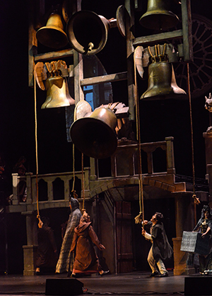 Research of the actual Notre Dame Cathedral in Paris influenced design elements of the the set for Nevada Thespians All-State production of The Hunchback of Notre Dame.