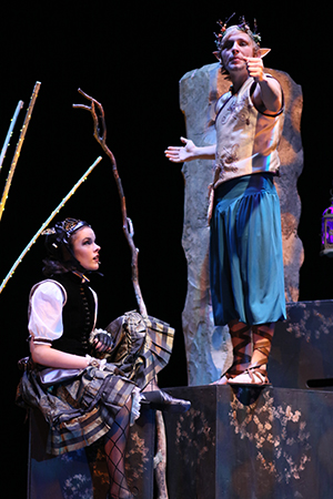 Olivia Greco and Michael Klitsch in North Penn High School's production of A Midsummer Night's Dream.