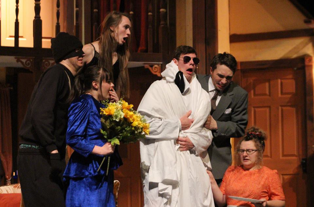The cast of McPherson High School's production of Noises Off.