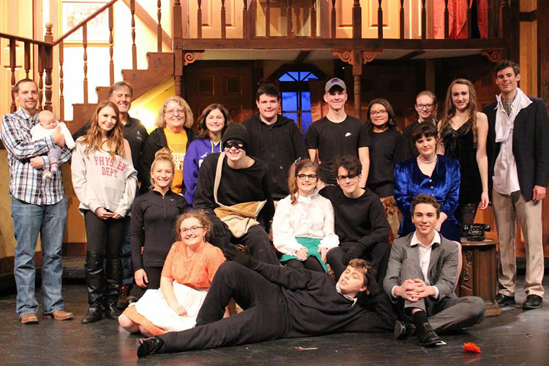 The cast and crew of McPherson High School's production of Noises Off.