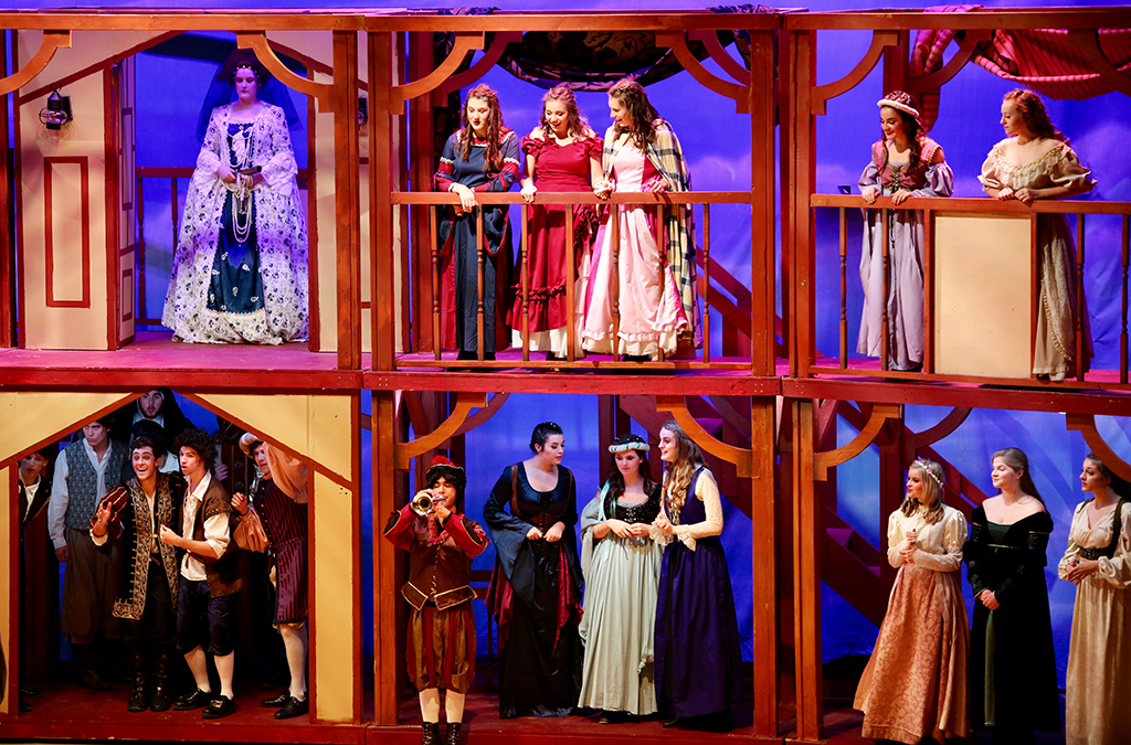 The cast of J.J. Pearce High School's production of Shakespeare in Love.