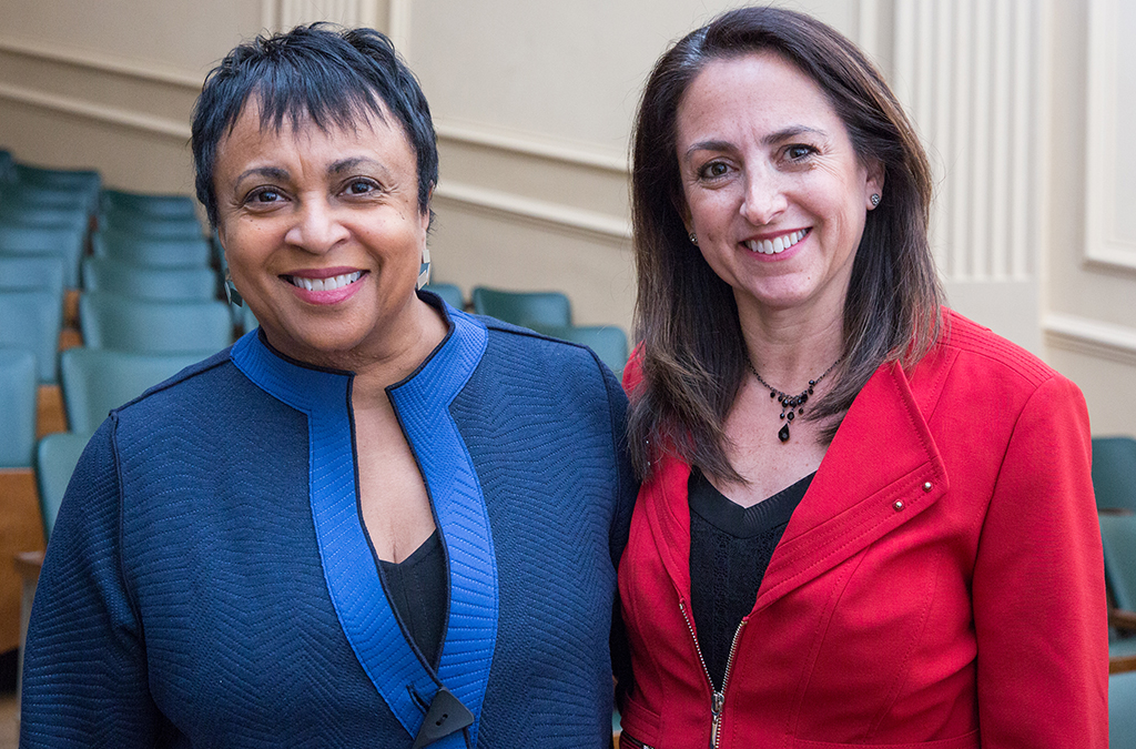 Librarian of Congress Carla Hayden with EdTA Executive Director Julie Cohen Theobald.