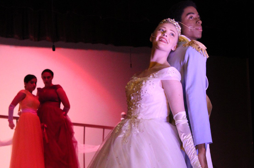 Ginger May and Noah Slade-Joseph in Bridgewater-Raritan (N.J.) High School's production of Cinderella. Photo courtesy of Teresa Wallace-Gunning.