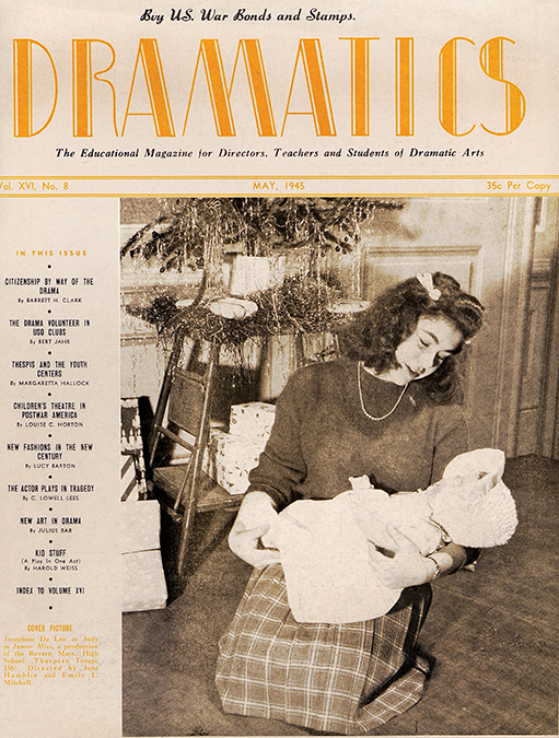 Cover of a 1944 issue of Dramatics magazine.