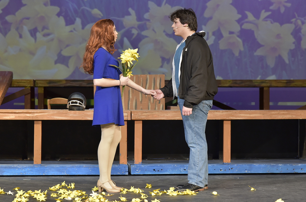 Emma Rohan and Andrew Long in Union High School's production of Big Fish.