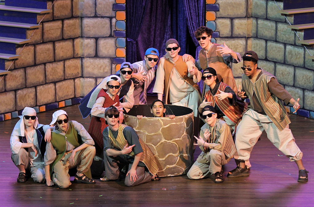 The cast of Oakbrook Preparatory School's production of Joseph and the Amazing Technicolor Dreamcoat.