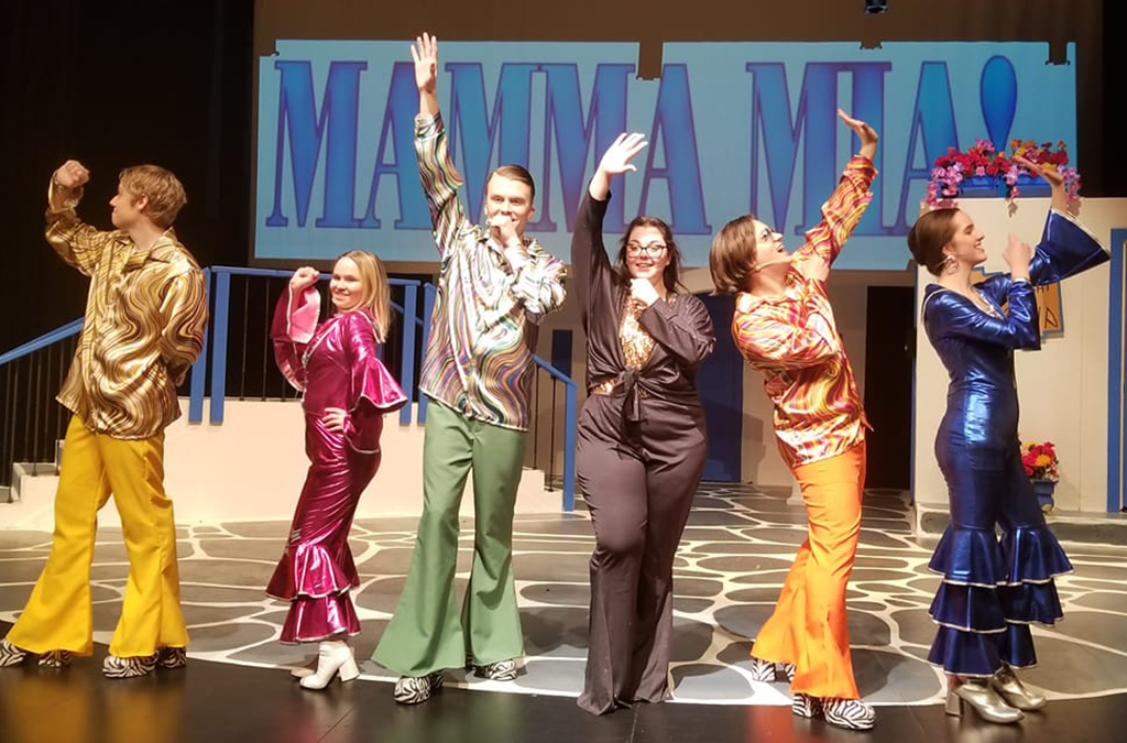 The cast of Auburn Mountainview High School's production of Mamma Mia!