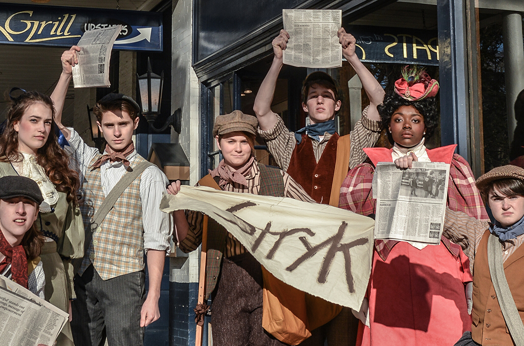 The cast of State College Area High School's production of Newsies.