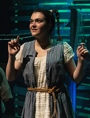Chloë Wendler portrays Molly Aster in Jemicy School's production of Peter and the Starcatcher.