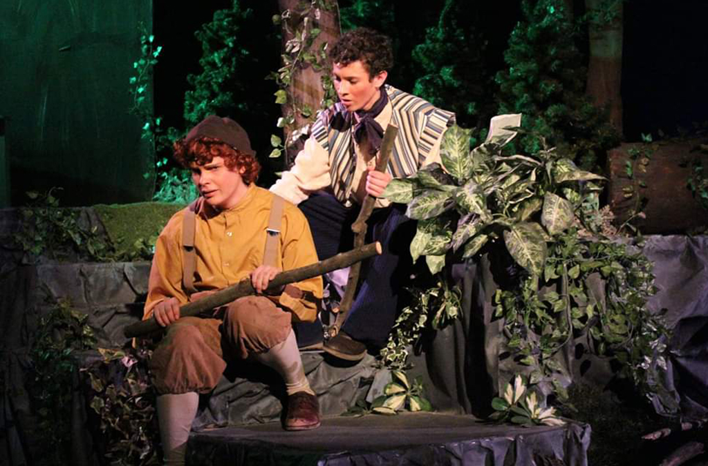 Jacob Nemitz and Robbie Abel in Marcus Whitman High School's production of Into the Woods.