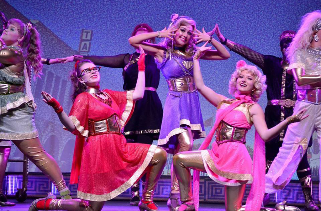 The cast of Arab High School's production of Xanadu.