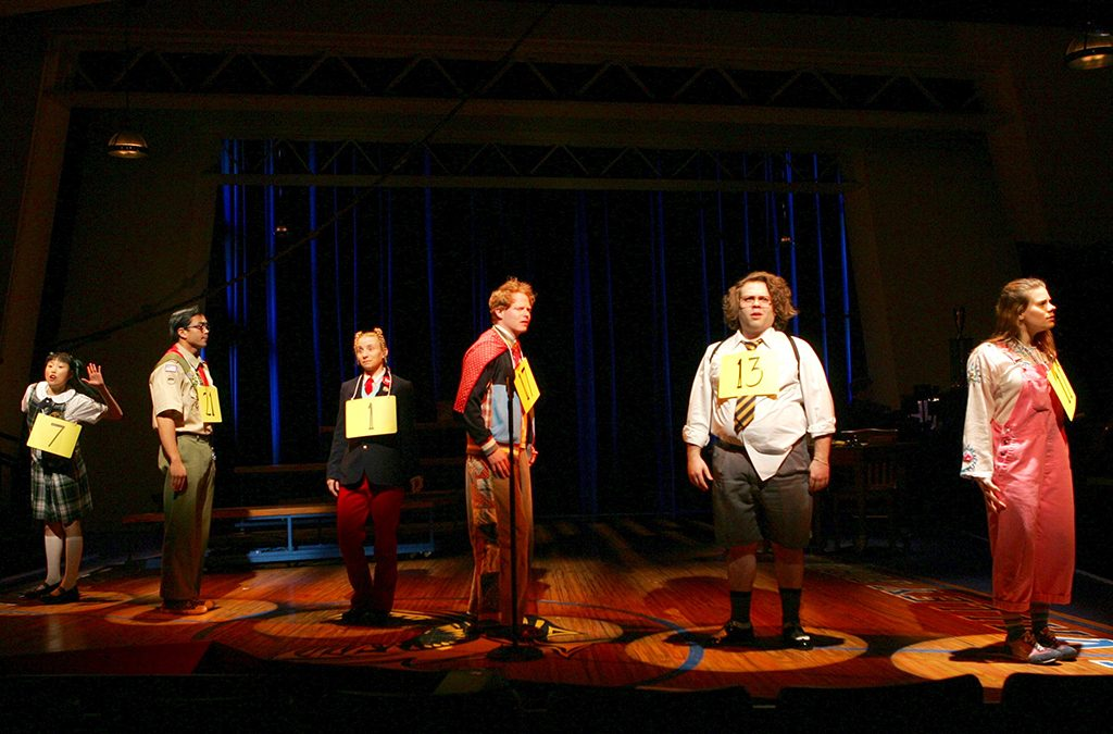 The Broadway cast of The 25th Annual Putnam County Spelling Bee.
