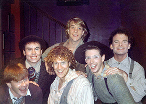 Dan Knechtges (second from left, with Robert Bartley, Kevin Wright, George Buston, Gregory Bossler, and John Willson) appeared in the Maine State Music Theatre production of Big River.