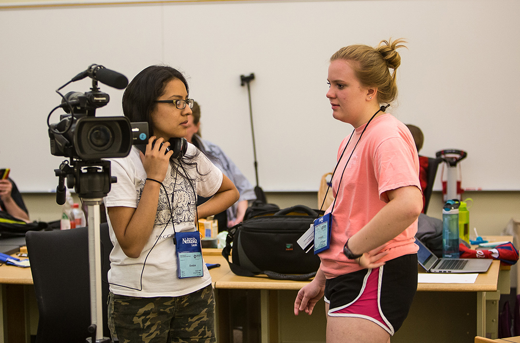 The Thespian Filmworks team creates a short movie during the week of ITF.