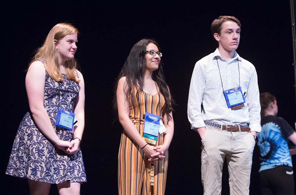 Participants of the Thespian Filmworks program created a short movie to screen at ITF.