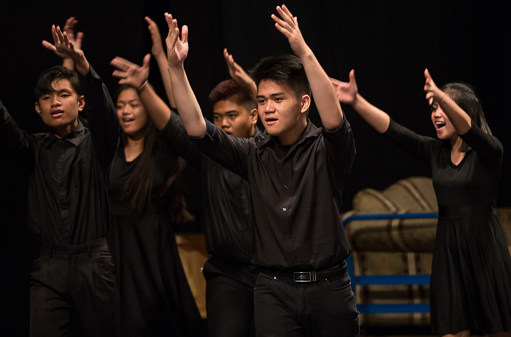 Thespians participate in the group musical National Individual Events program