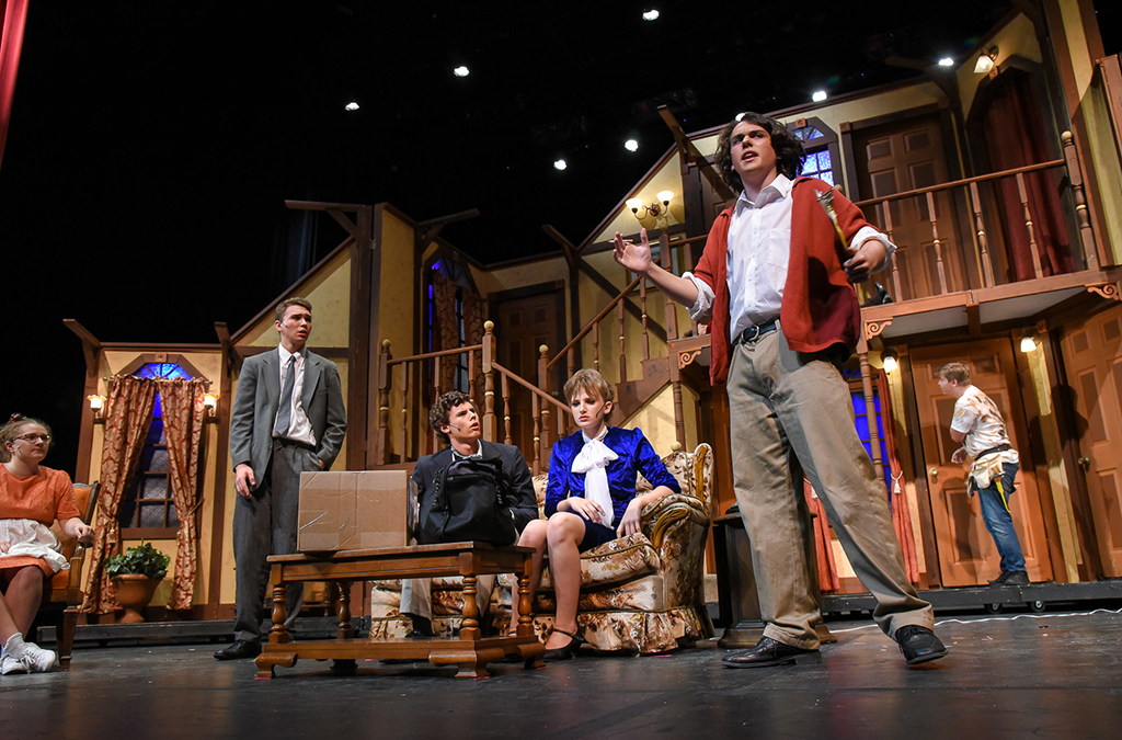 The McPherson High School production of Noises Off.