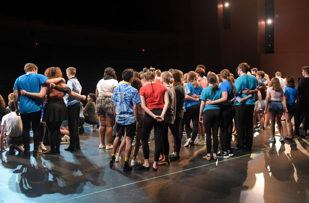 Thespians prepare for their moment to shine in the 2019 International Thespian Festival opening show.