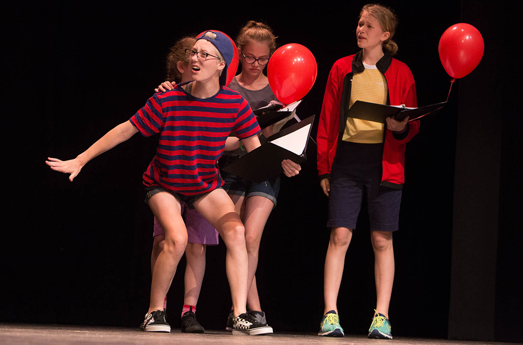 Four student-written plays were workshopped as part of the Thespian Playworks program.
