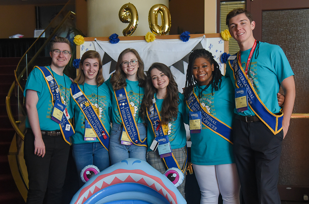 The 2018-19 International Thespian Officers are ready to celebrate the 2019 International Thespian Festival and the 90th birthday of the International Thespian Society.