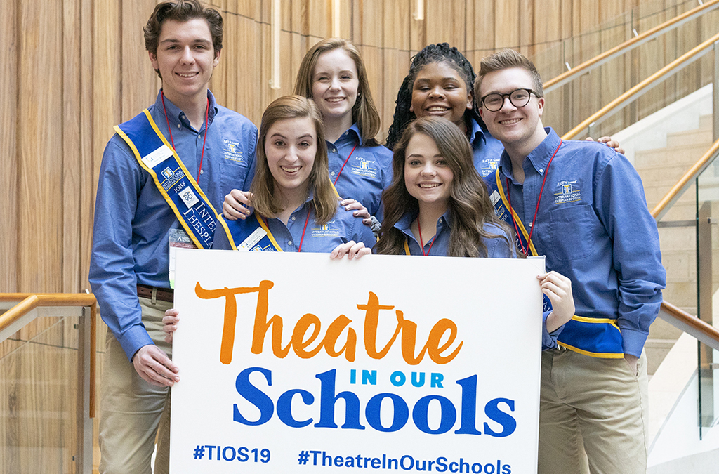 Angela Lovelace (top row, second from right) joined her fellow International Thespian Officers to advocate for theatre education in Washington, D.C. at the National Arts Action Summit.