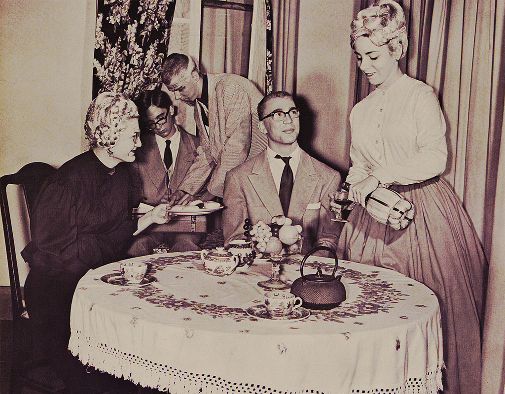 Cast members from Winterville High School of Steubenville, Ohio, in their 1966 production of Arsenic and Old Lace.